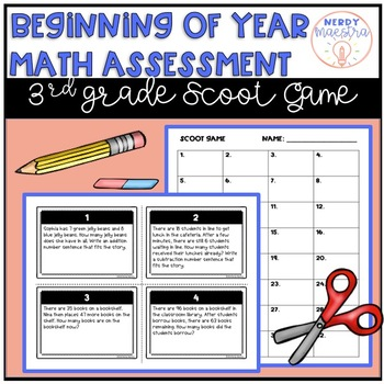 Beginning of Year Math Assessment for 3rd Grade Scoot Game