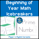 Beginning of Year Math IceBreaker