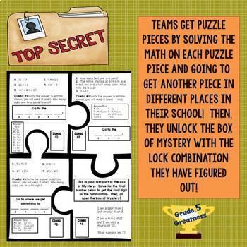 Beginning of Year Math Mystery Activity