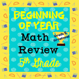 *Beginning of Year Math Review of 4th grade for NEW Fifth Graders