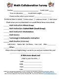 Beginning of Year Math Teacher Survey