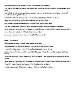 Beginning of Year Mentor Sentences