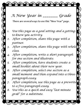 Beginning of Year / A New Year in ____ Grade