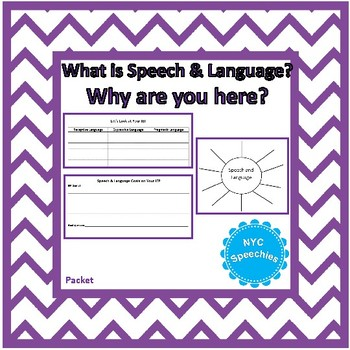 Beginning of Year Packet: What is Speech & Language?