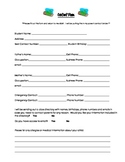 Beginning of Year Parent Contact Form