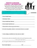 Beginning of Year Parent/Guardian Contact Information