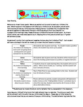 ENGLISH AND SPANISH - Beginning of Year Parent Letter