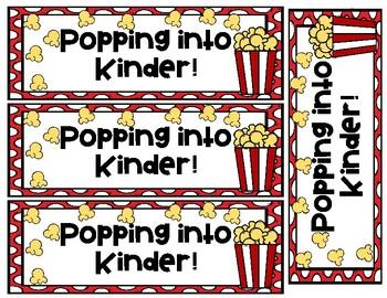 Beginning of Year Popcorn Theme Student Gift Spanish