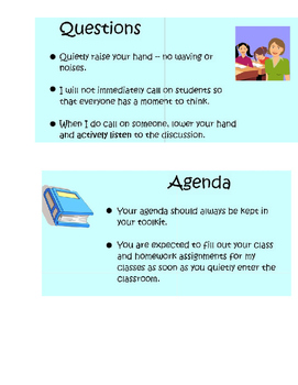 Beginning of Year Procedures for a Successful Year Smart Board Lesson