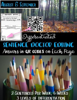 Beginning of Year QR Sentence Editing for Writing Station
