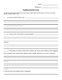 Beginning of Year Reading and Writing Interest Survey