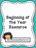 Beginning of Year Resources