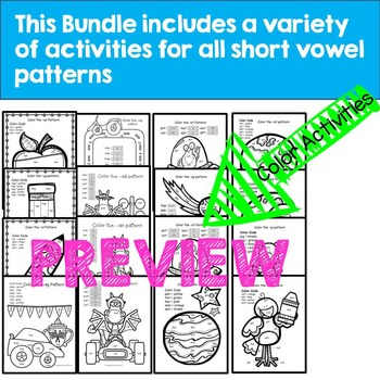 Short Vowel Word Work Activities--Includes short a, e, i, o, u