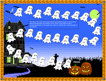 Beginning of Year Sight Word Mat- Ghost theme