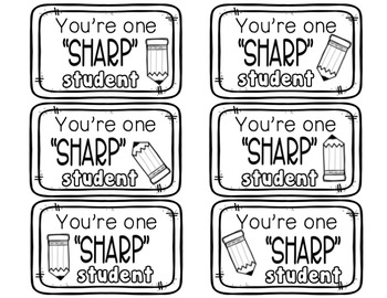 Beginning of Year Student Gift   Pencil Gift Tags