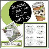 Beginning of Year Student Gift Tags