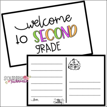 Beginning of Year Student Welcome Post Card