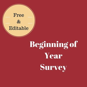 Back to School: Get to Know Your Students Survey