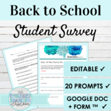 Back to School Survey for Spanish Class