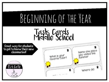 Beginning of Year Task Cards