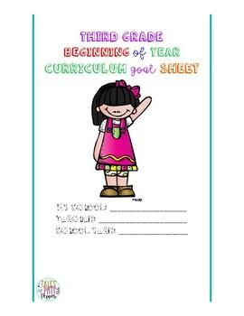 Beginning of Year Third Grade Curriculum Goals