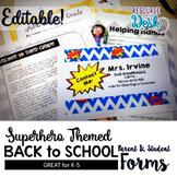 Beginning of Year Welcome Packet for Meet the Teacher - Superhero Themed