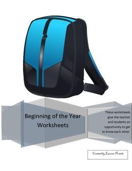 Beginning of Year Worksheets