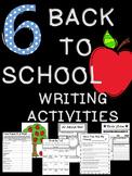 Beginning of Year Writing Activities
