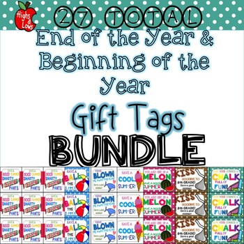 Beginning of Year and End of Year Gift Tag Mega Bundle
