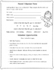 Beginning of school parent forms packet