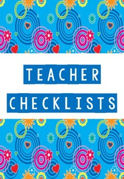 Beginning of school year checklists
