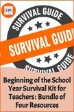 Beginning of the School Year Survival Kit for Teachers: Bu