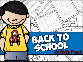 Beginning of the School Year, Back to School, First Day of School Activities