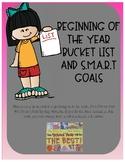 Beginning of the School Year Bucket List and SMART Goals