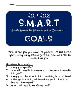 Beginning of the School Year Bucket List and SMART Goals
