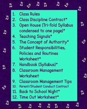 Beginning of the School Year Chorus Teacher BUNDLE