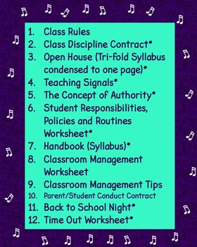Beginning of the School Year Chorus Teacher BUNDLE