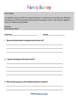 Beginning of the School Year Documents [EDITABLE]