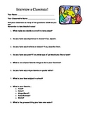 Beginning of the School Year - Interview a Classmate Activity