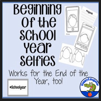 Beginning of the School Year Selfies Bulletin Board and Writing Activity