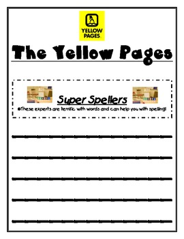 Beginning of the School Year: The Yellow Pages - Student Expert Guide
