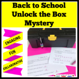 Beginning of the School Year Unlock the Box Mystery