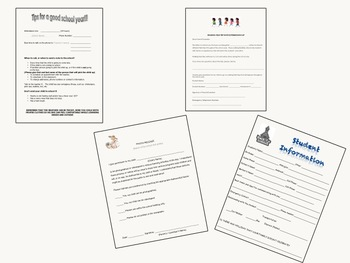 Beginning of the School Year forms for parents (English and Español)