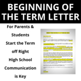 Beginning of the Term Letter for Parents