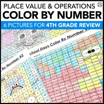 4th Grade Place Value Review | Starting 5th Grade Back to School Math