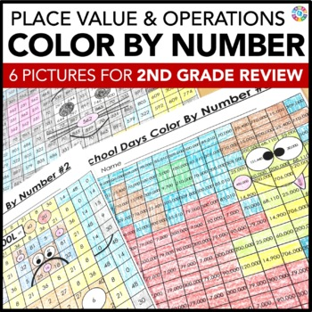 2nd Grade Place Value & Operations Skills {3rd Grade Back to School Math Review}