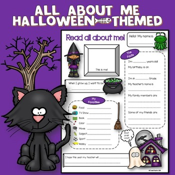 All About Me Halloween Theme