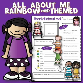 All About Me Rainbow Theme