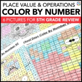 5th Grade Place Value Worksheets (6th Grade Back to School Math Review)