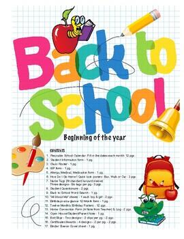 Back to School  Teacher's Package-BasicPlus